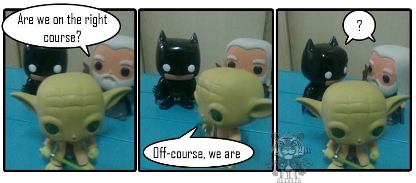 Batman, Gandalf, and Yoda