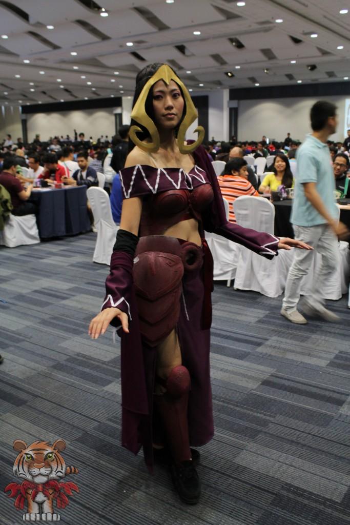 A Malaysian cosplaying Liliana Vess