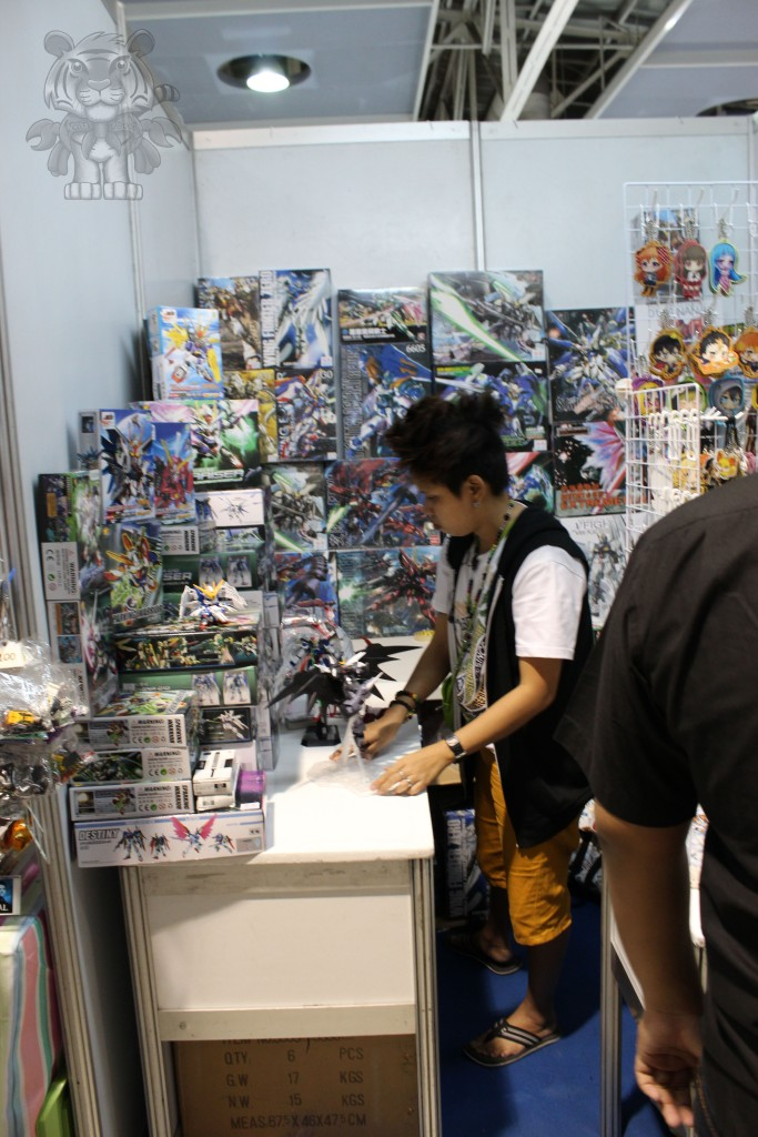 There is also a booth who sells Gundam