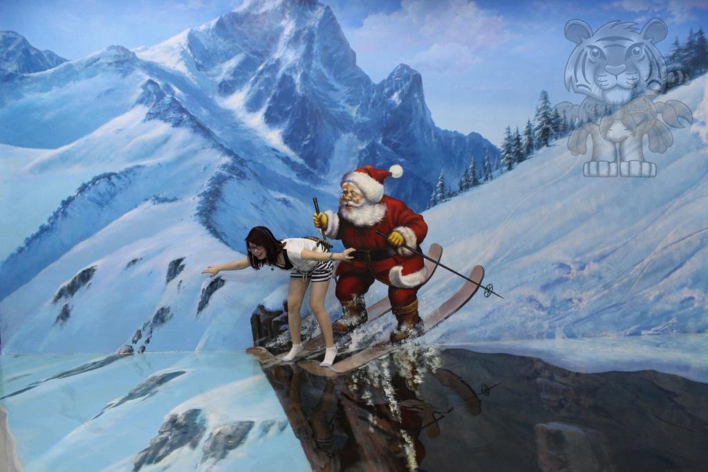 Ski with Santa.