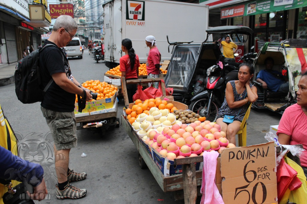 Vendors selling fruits