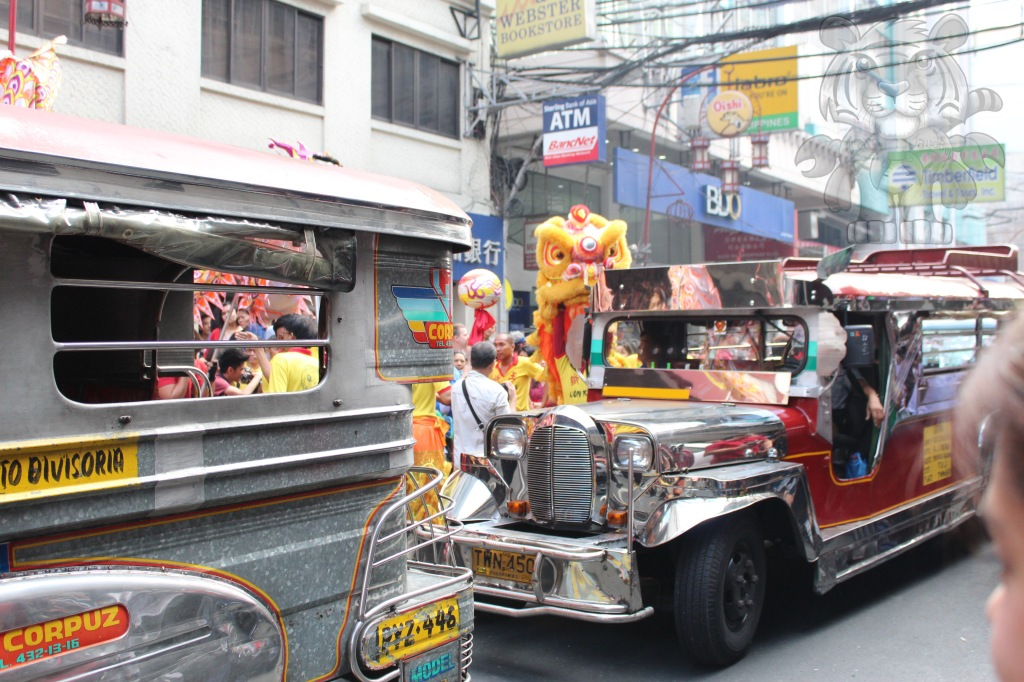 No lion nor dragon can interfere with a passing Jeepney