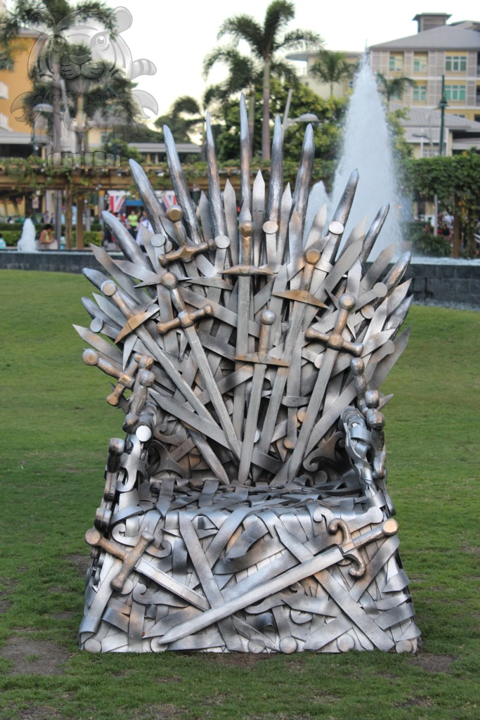 The chair of swords...just kidding, The Iron Throne...of games :P