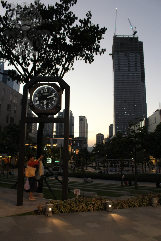 The clock and the park.