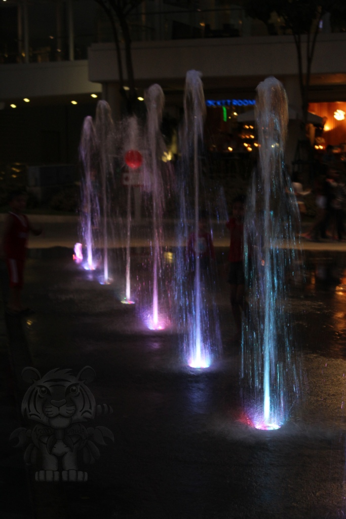 Fountains with light colors.