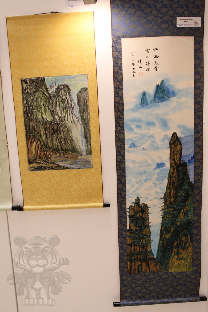 The painting reminds me of the mountains of Zhangjiajie.