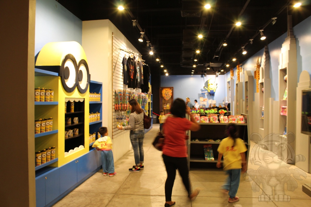 The museum tour ends in a souvenir shop.