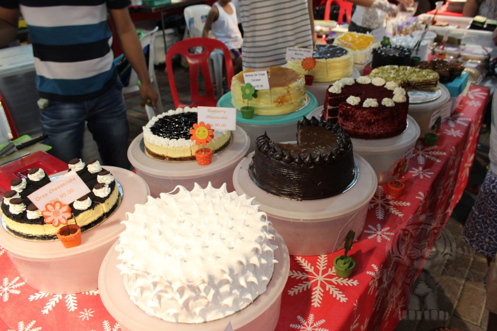 Cakes. A lot of them