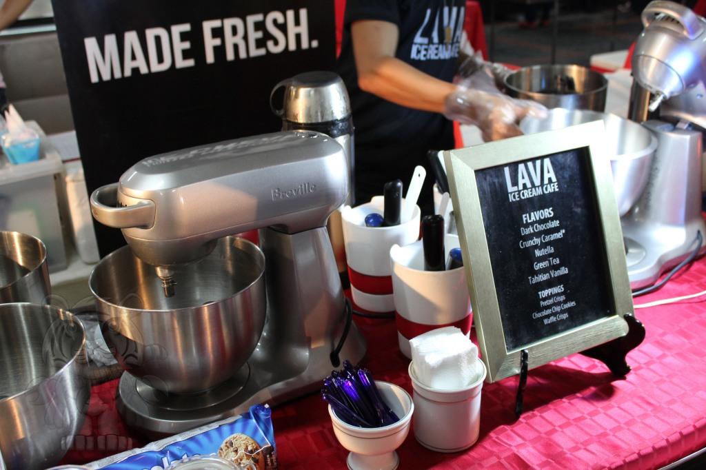 Lava Ice Cream. They produce ice cream with liquid nitrogen.