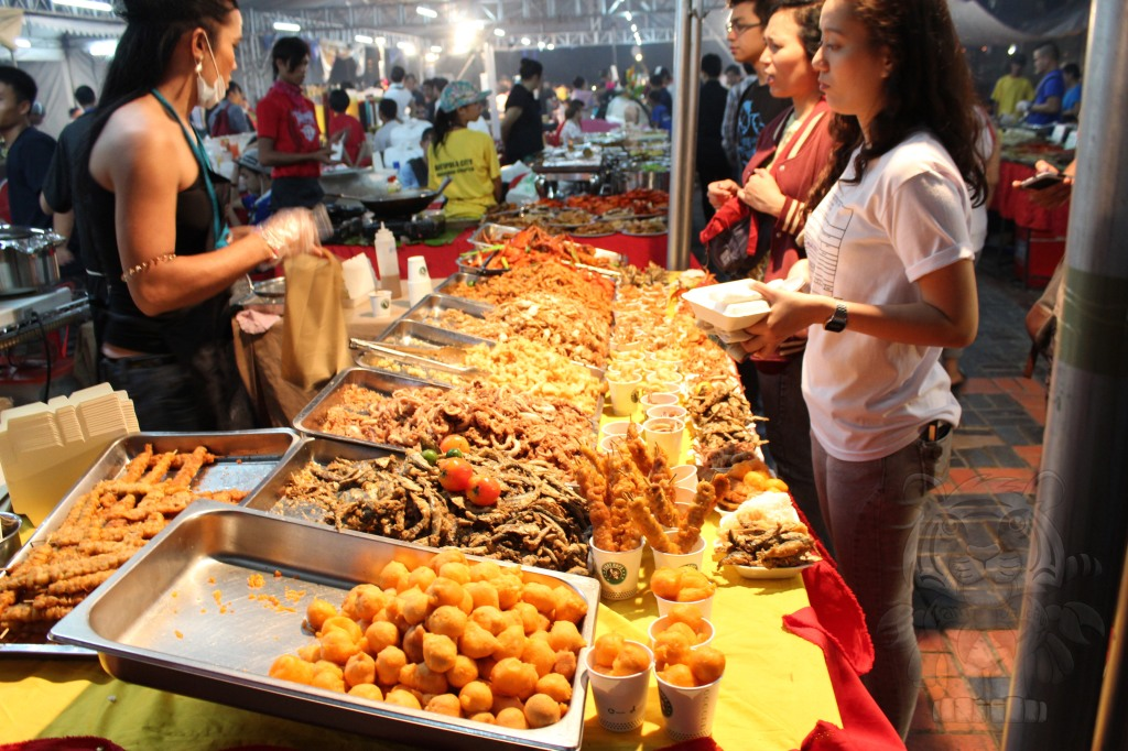 Street foods. Tasty and clean
