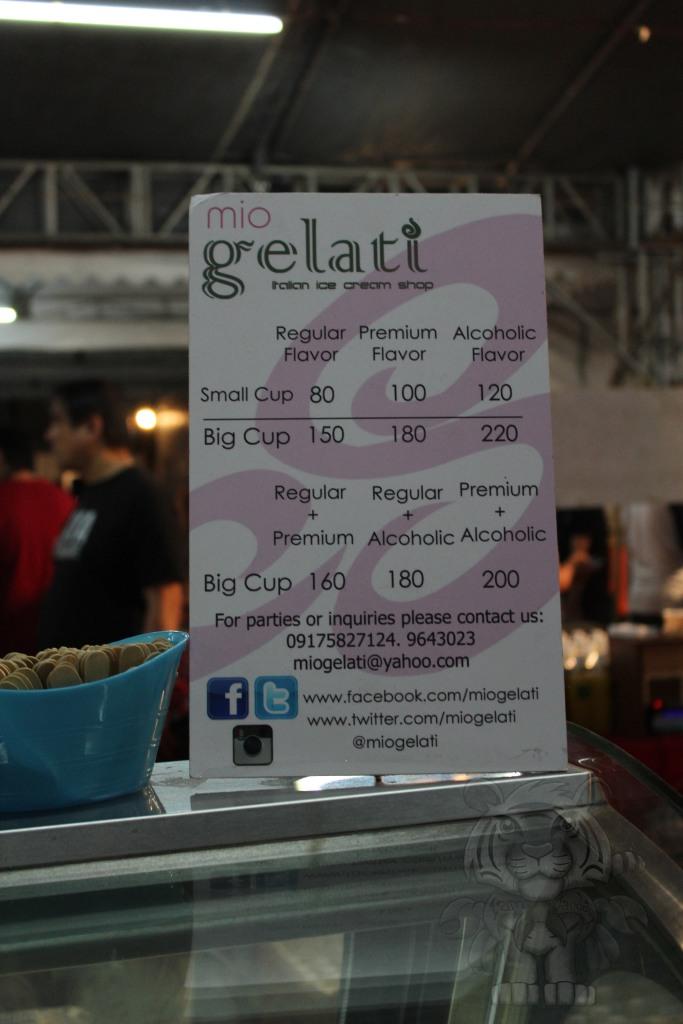Mio Gelati. They have alcoholic ice cream.