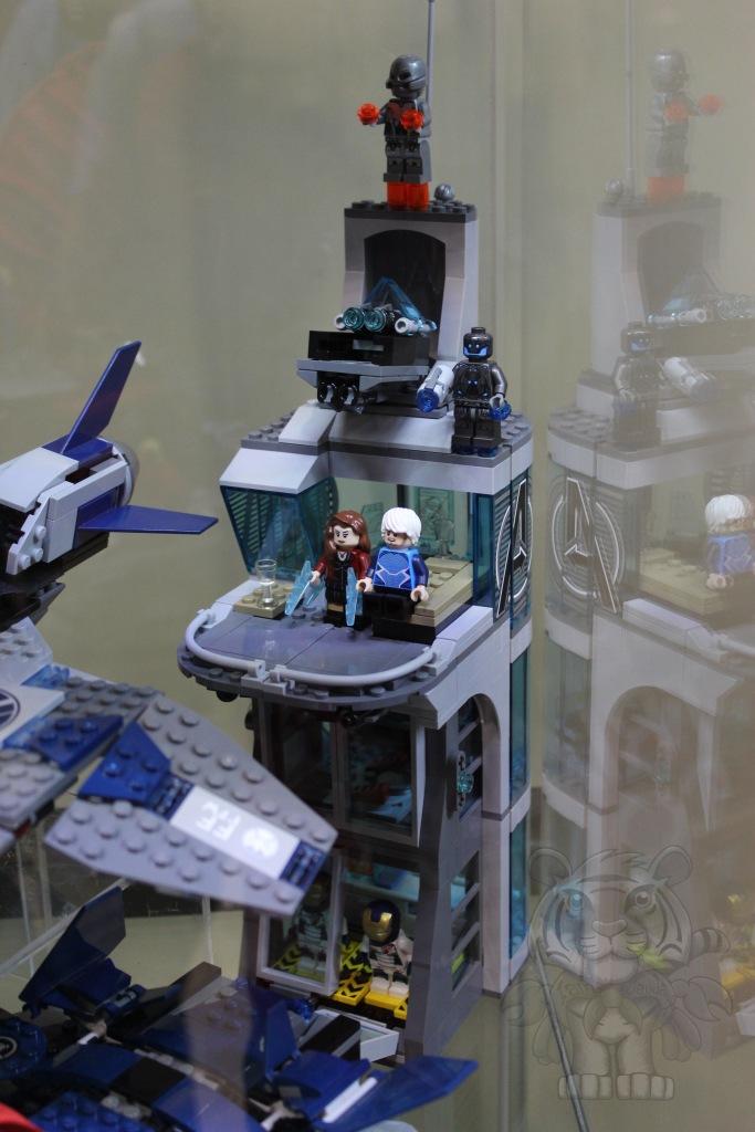 Lego Avengers tower.