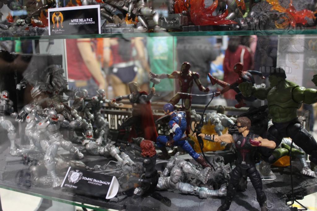 Avengers fighting Ultron.