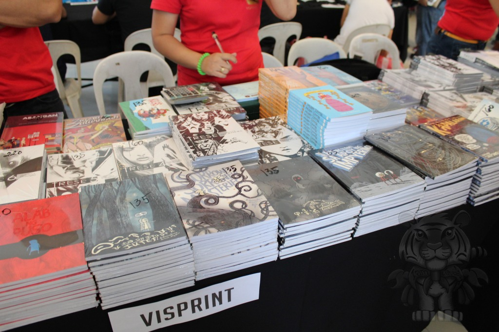 Visprint table. Mostly works of Manix Abrera