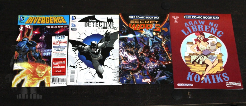 Here are the free comic books I got. :)