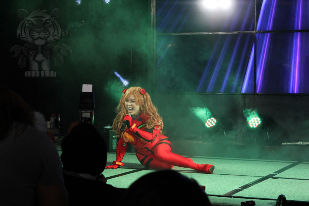 "Asuka Langley Soryu of Neon Genesis Evangelion doing a lip-sync of ""Call Me Maybe"""
