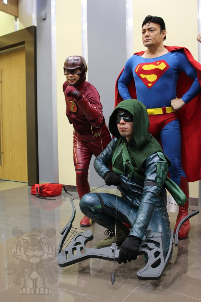 The Flash, Superman, and Green Arrow