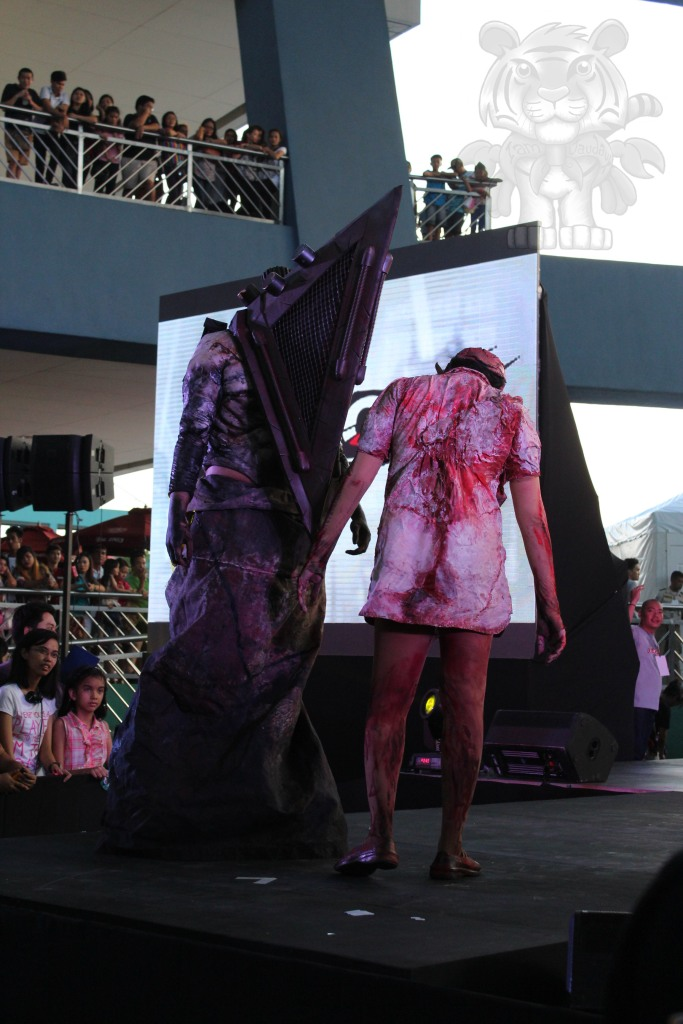 Pyramid Head and Nurse of Silent Hill.