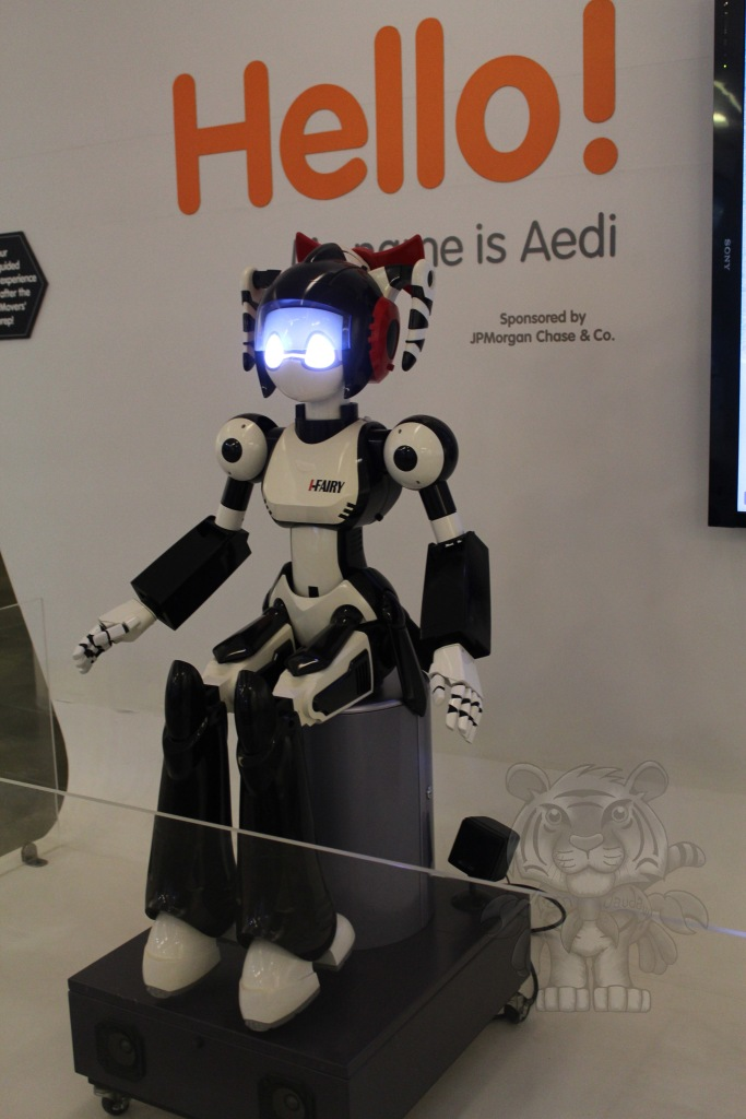 As you go inside the Mind Museum, you'll be welcomed by this robot