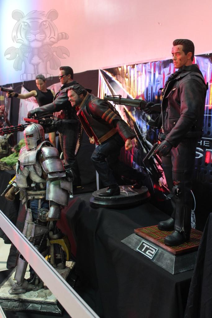 Tomb raider, The Terminator, The Wolverine and Ironman Mark I