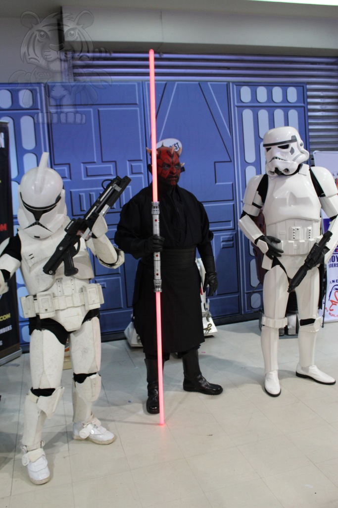 Darth Maul and his Stormtroopers.