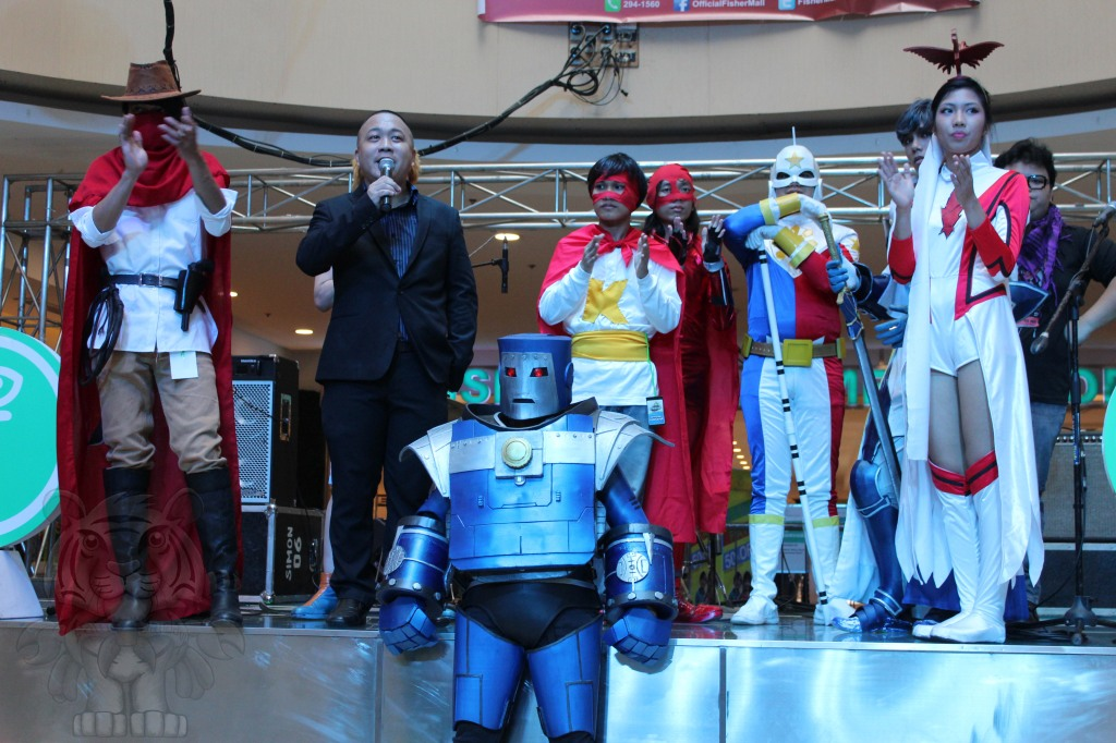 Pinoy Comicbook characters on stage.